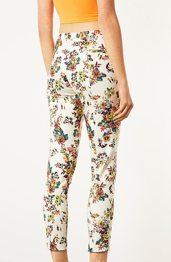 Alternate Image 2  - Topshop Pixelated Floral High Waist Pants