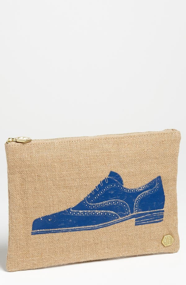 Alternate Image 1 Selected - Jonathan Adler 'Shoe' Canvas Pouch