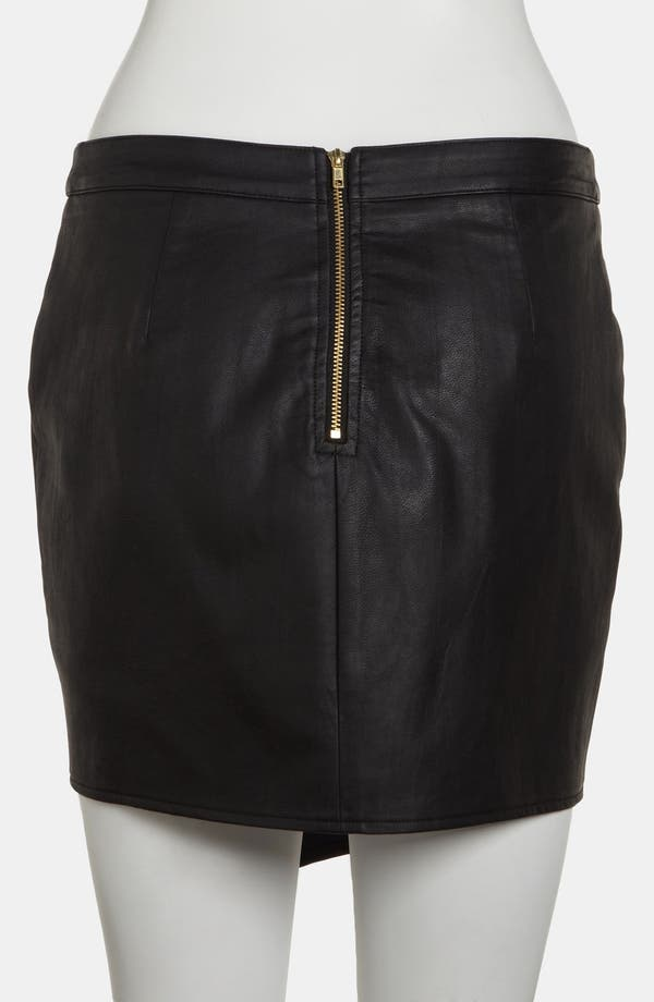 Alternate Image 2  - ASTR Asymmetrical Faux Leather Skirt