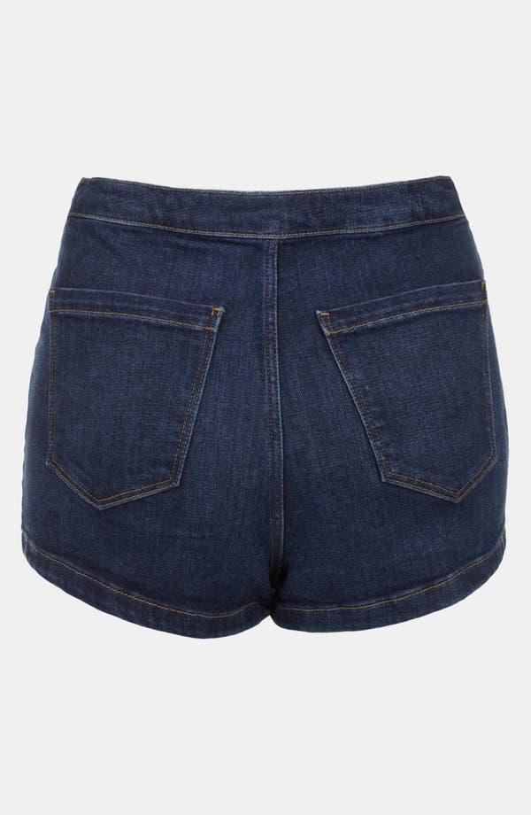 Alternate Image 2  - Topshop Moto 'Indigo Francis' Denim Shorts