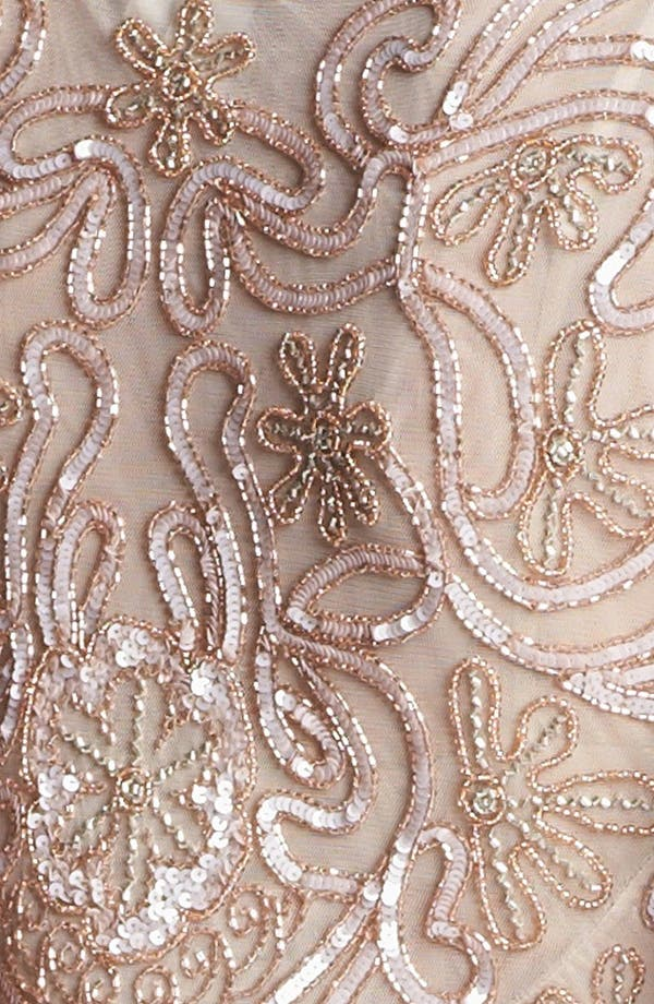 Alternate Image 3  - J Kara Embellished Mesh Sheath Dress (Petite)