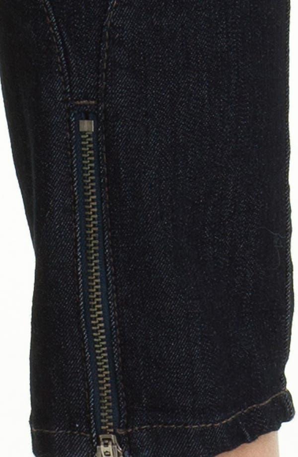 Alternate Image 3  - NYDJ 'Jill' Zip Hem Stretch Crop Jeans (Petite)
