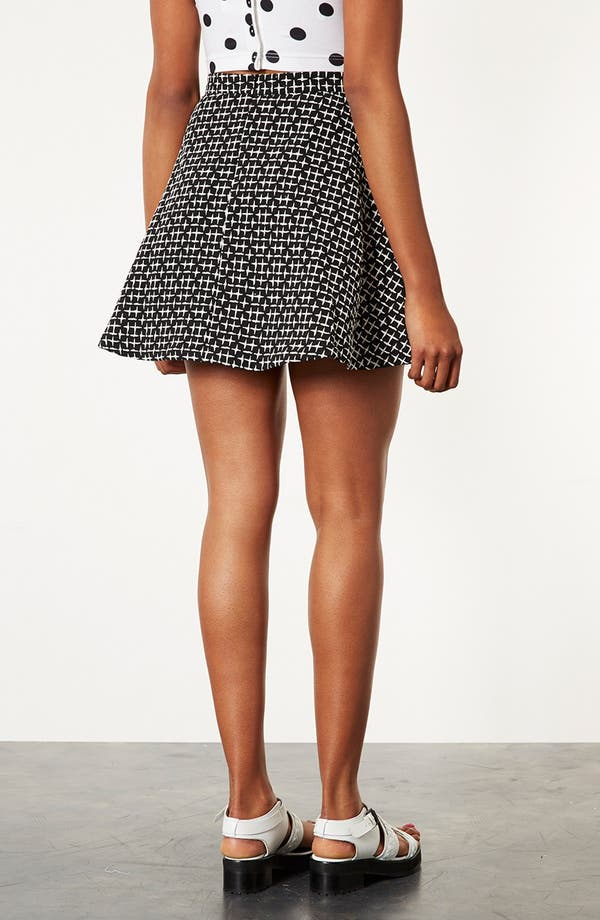 Alternate Image 2  - Topshop Cross Stitch Print Skirt