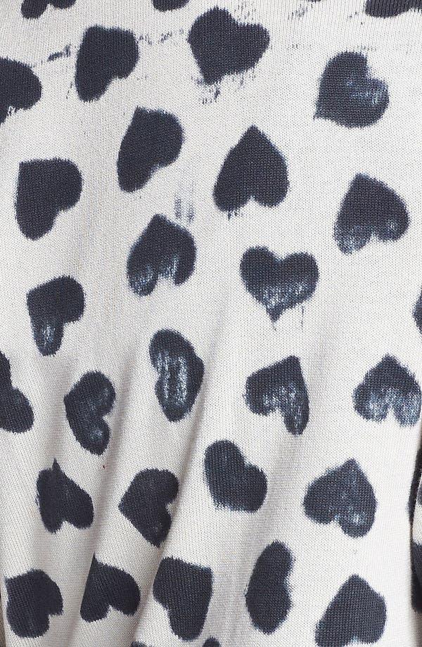 Alternate Image 3  - Truehitt Heart Cardigan (Juniors)