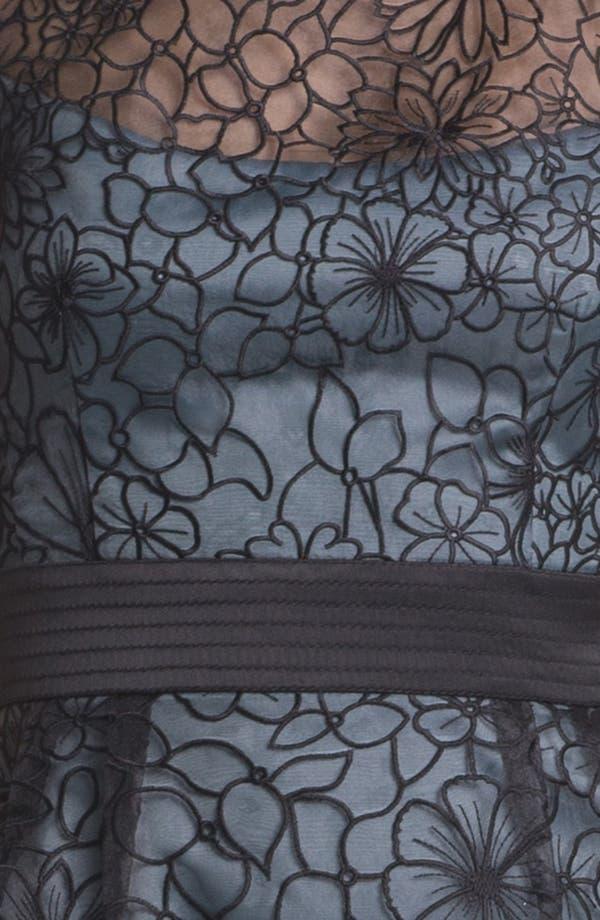 Alternate Image 3  - Adrianna Papell Embroidered Organza Sheath Dress