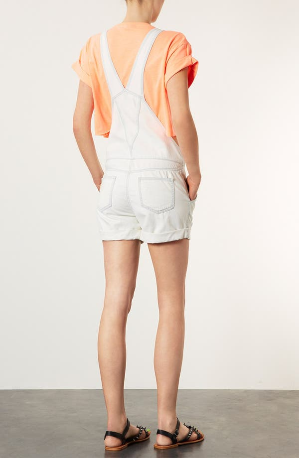 Alternate Image 2  - Topshop Moto Denim Overall Shorts
