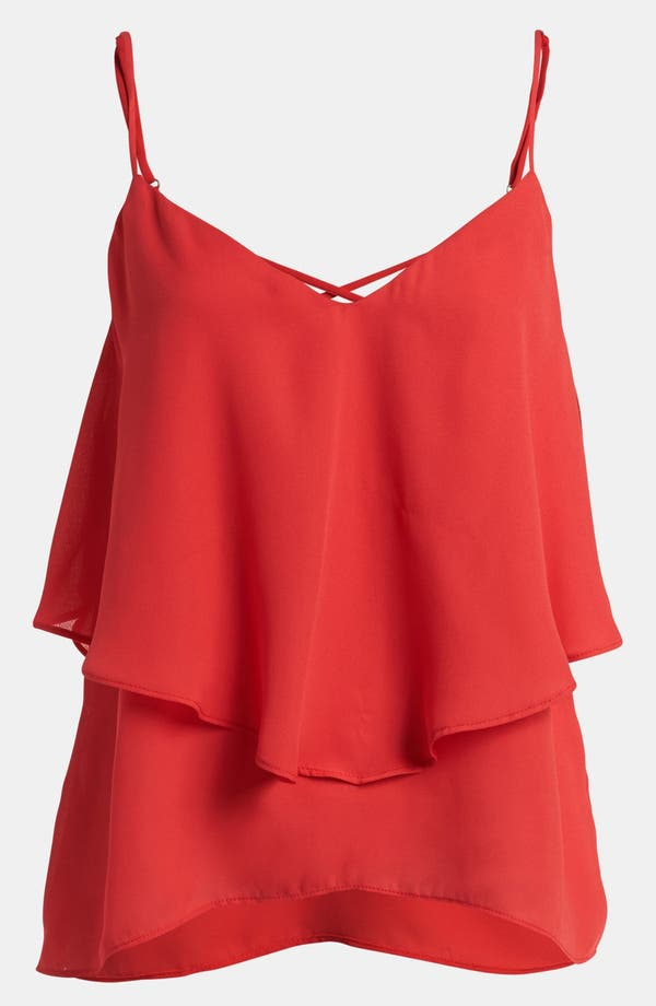 Main Image - Like Mynded Strappy Ruffle Cami