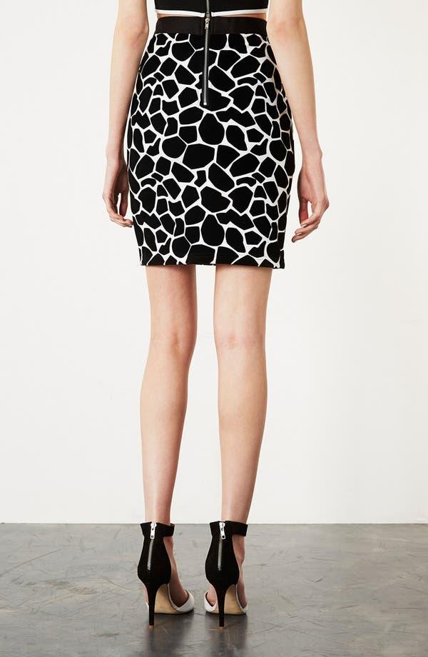 Alternate Image 2  - Topshop Giraffe Pattern Pencil Skirt