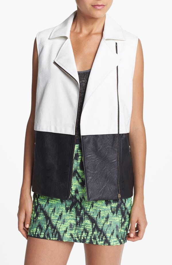 Alternate Image 1 Selected - ASTR Colorblock Faux Leather Vest