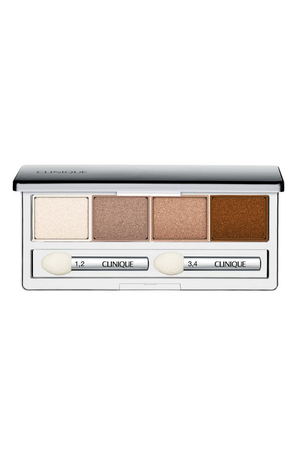 All About Shadow Eyeshadow Quad,                             Main thumbnail 1, color,                             Teddy Bear