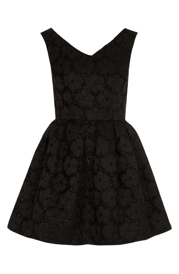 Alternate Image 3  - Topshop Floral Jacquard Fit & Flare Dress