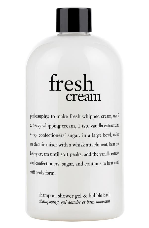 Main Image - philosophy 'fresh cream' shampoo, shower gel & bubble bath