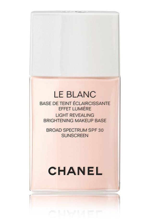 Alternate Image 1 Selected - CHANEL LE BLANC  Light-Revealing Brightening Makeup Base Broad Spectrum SPF 30