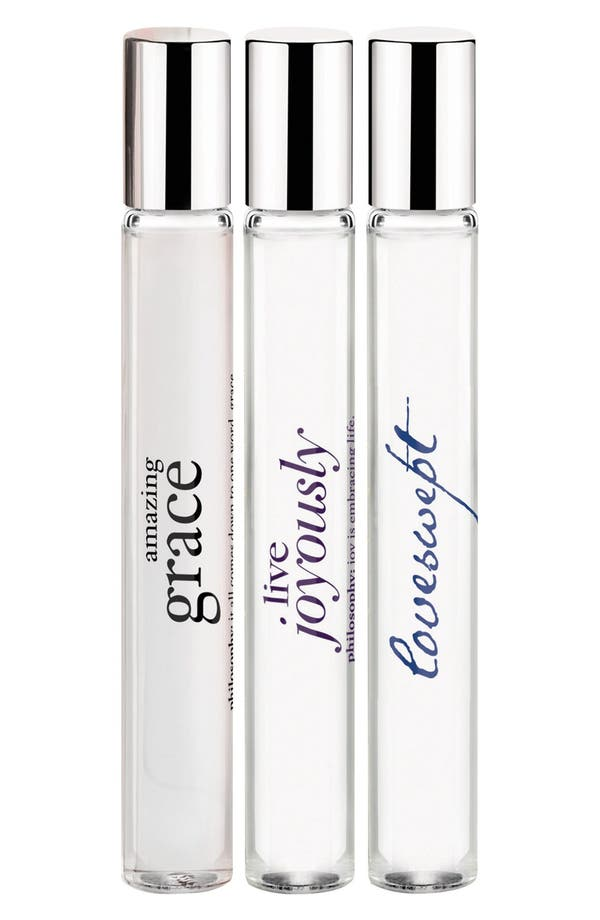 Alternate Image 1 Selected - philosophy 'live with grace & love' rollerball trio (Limited Edition) ($60 Value)