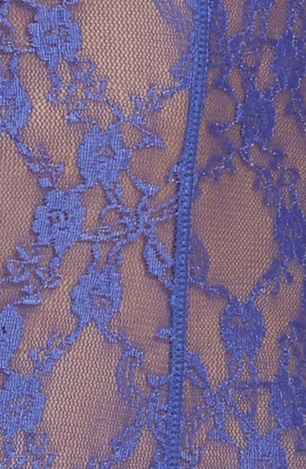 Intimately FP Runaway Lace Thong Bodysuit,                             Alternate thumbnail 6, color,                             Purple