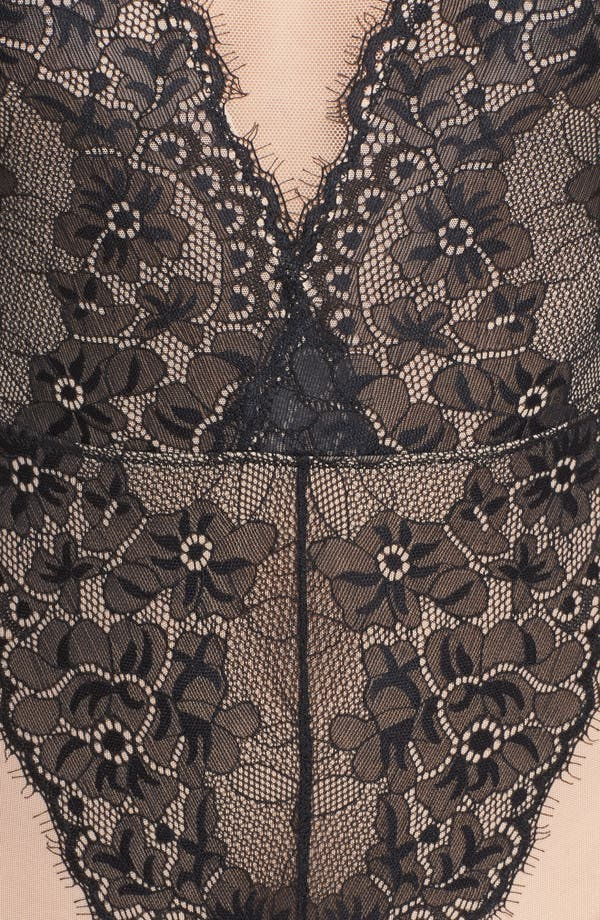 Liza Bodysuit,                             Alternate thumbnail 6, color,                             Black