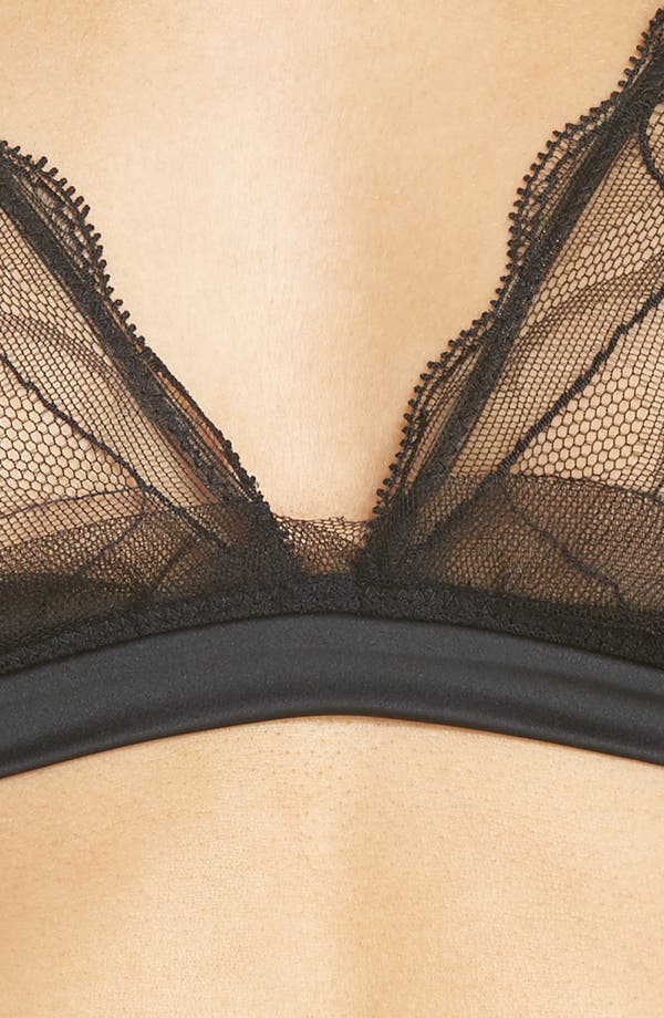 Triangle Bralette,                             Alternate thumbnail 7, color,                             Black