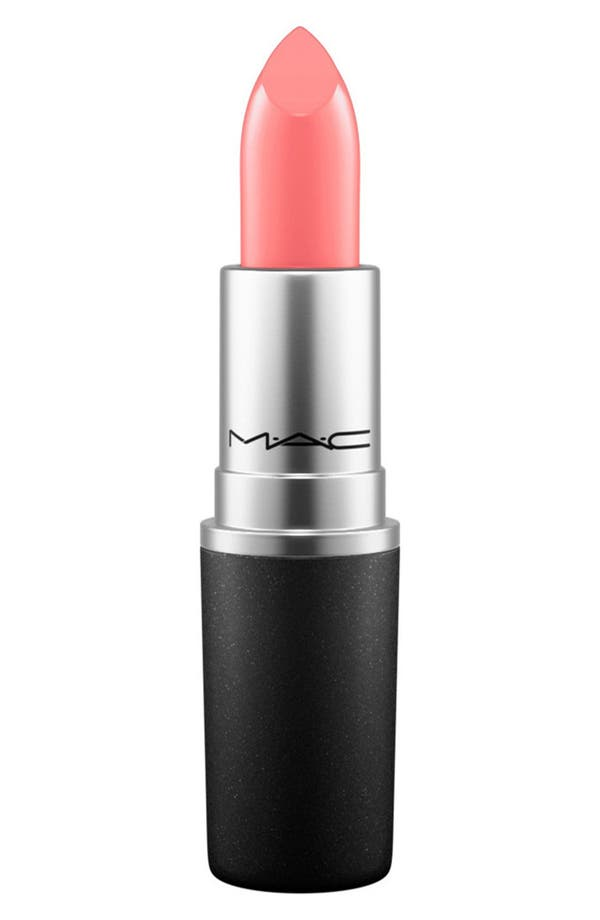 MAC Cremesheen + Pearl Lipstick,                         Main,                         color, Coral Bliss
