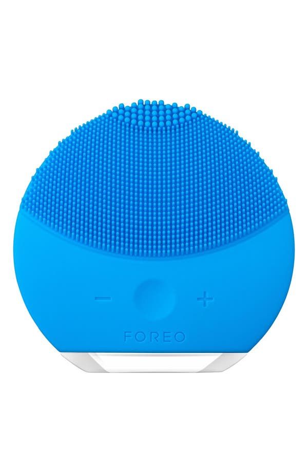 LUNA<sup>™</sup> mini 2 Compact Facial Cleansing Device,                             Main thumbnail 1, color,                             Aquamarine