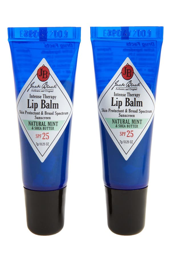 Main Image - Jack Black Intense Therapy Lip Balm SPF 25 Duo (Nordstrom Exclusive)