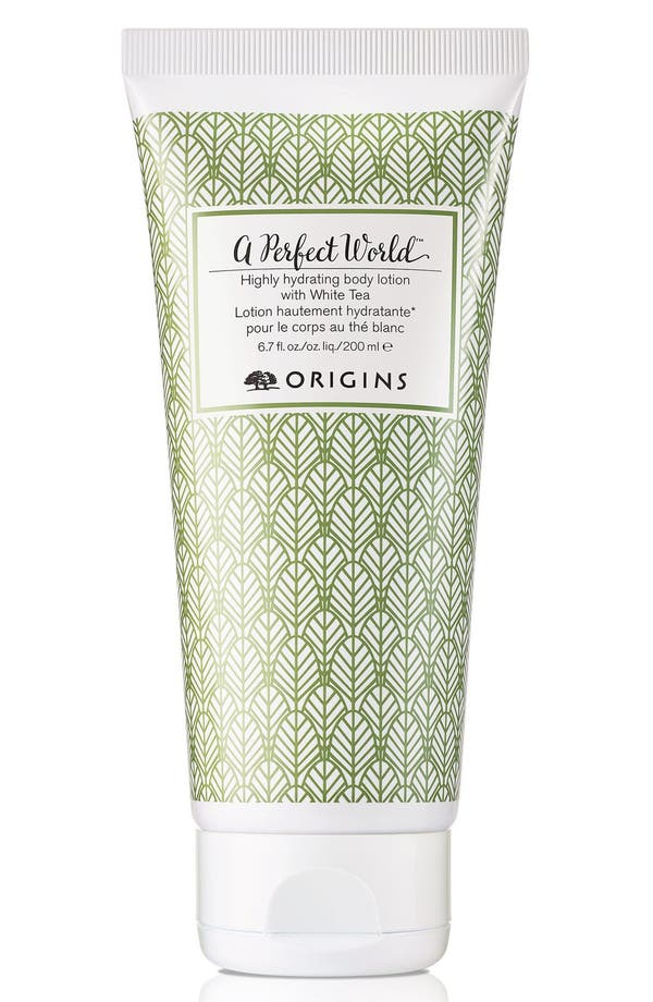 Alternate Image 1 Selected - Origins A Perfect World™ Highly Hydrating Body Lotion with White Tea