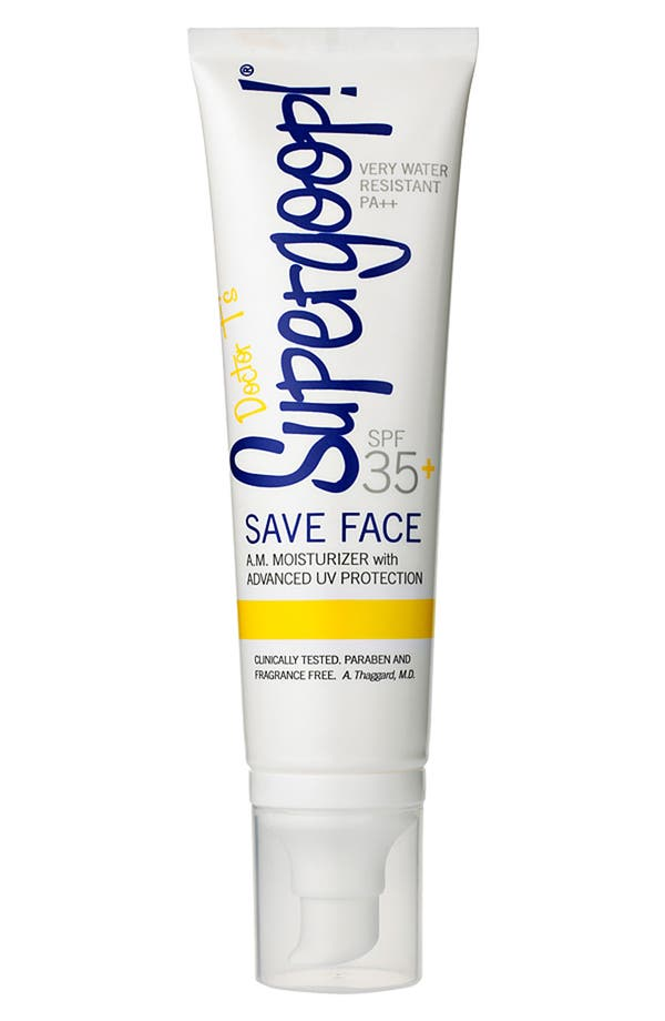 Main Image - Supergoop!® 'Save Face' A.M. Moisturizer SPF 35+