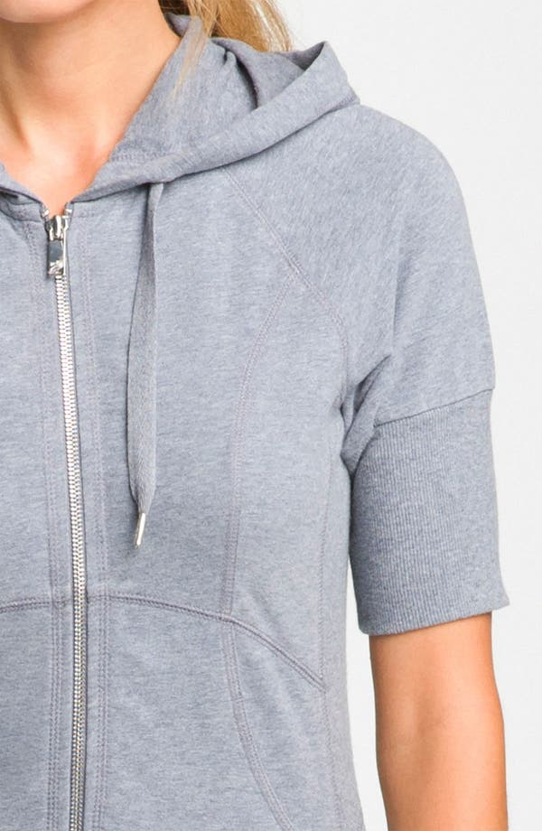 'Supersoft' Short Sleeve Hoodie,                             Alternate thumbnail 3, color,                             Grey Folkstone