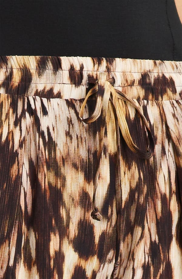Alternate Image 3  - Yigal Azrouël Leopard Print Silk Crepe Pants