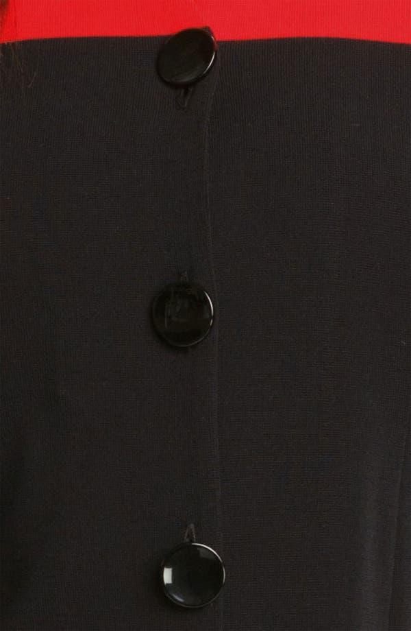 Alternate Image 3  - Exclusively Misook Colorblock Knit Jacket (Plus)