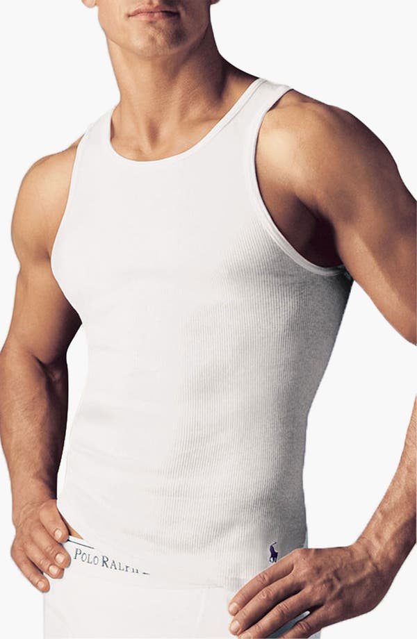 Main Image - Polo Ralph Lauren Rib Knit Cotton Tank (3-Pack)