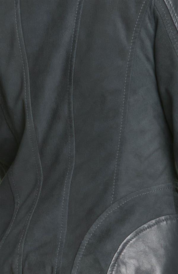 Alternate Image 3  - Bernardo Suede Marble Leather Jacket