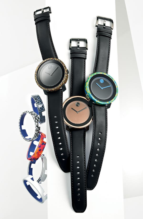 Alternate Image 2  - Movado 'Bold' Leather Strap Watch
