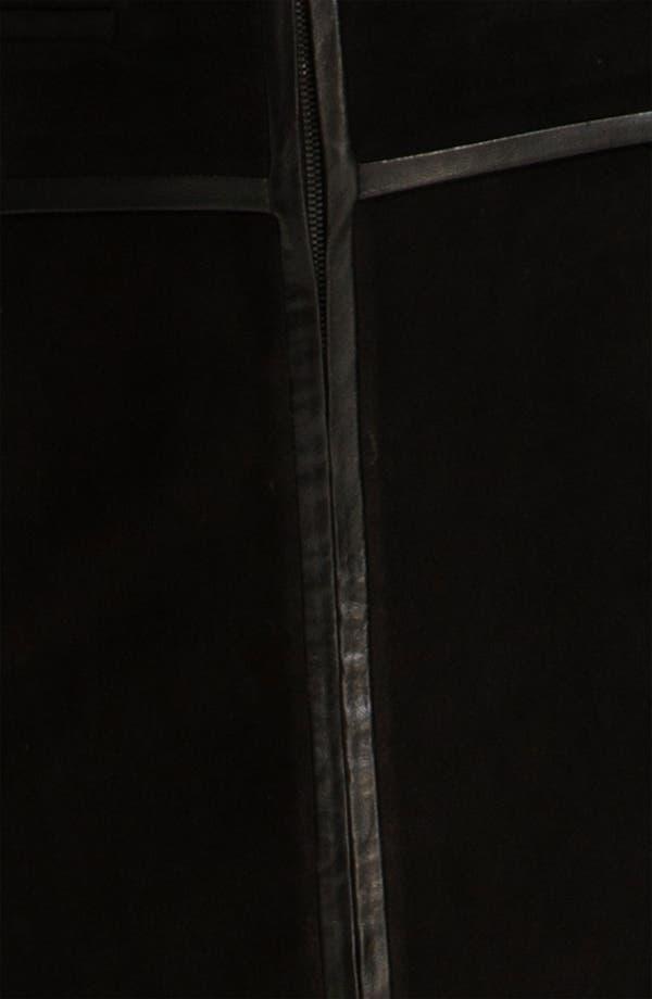 Alternate Image 3  - Robert Rodriguez Leather Framed Suede Skirt