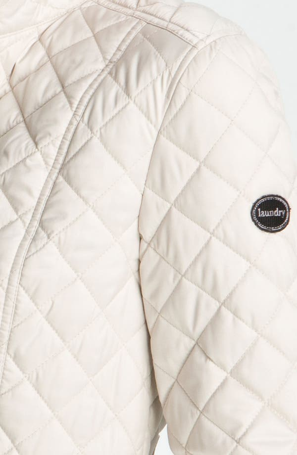 Alternate Image 3  - Laundry by Shelli Segal Quilted Zip Jacket