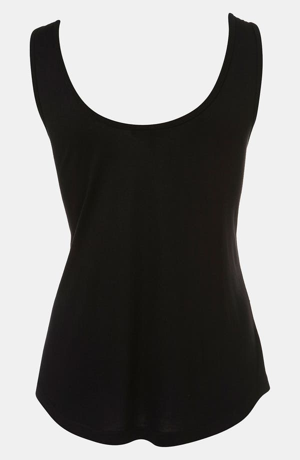 Alternate Image 2  - Topshop 'Cross' Embellished Lace Tank