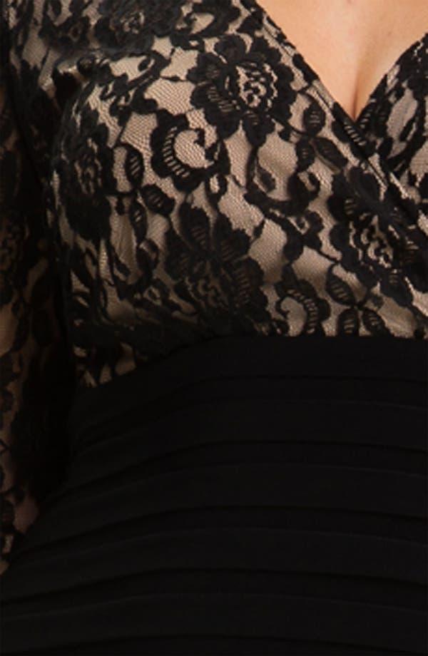 Alternate Image 3  - Adrianna Papell Lace Bodice Banded Sheath Dress (Plus Size)