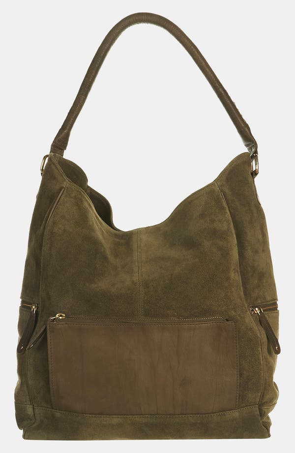 Alternate Image 2  - Topshop Slouchy Suede & Leather Tote