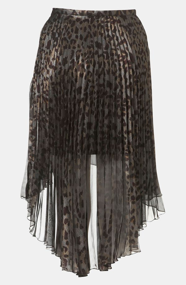 Alternate Image 2  - Topshop Animal Print Pleated Skirt