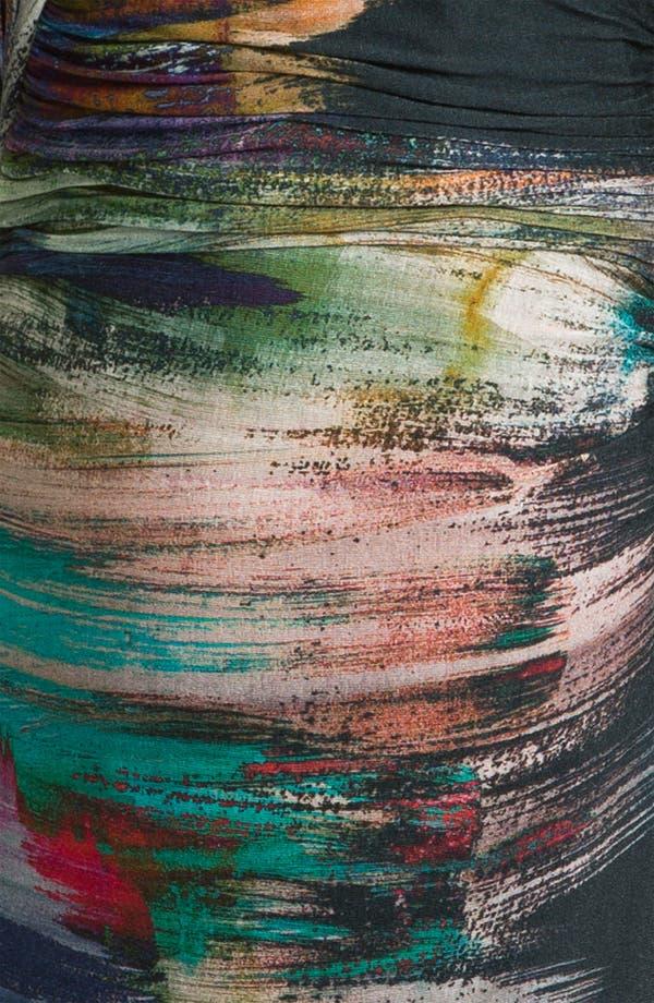 Alternate Image 3  - Kay Unger V-Neck Paint Stain Jersey Dress