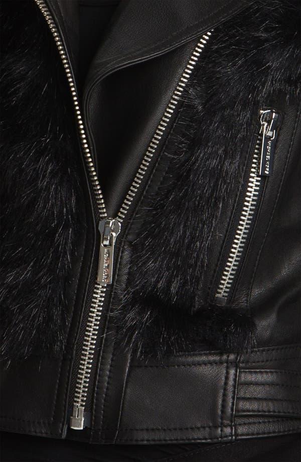 Alternate Image 3  - MICHAEL Michael Kors Faux Fur & Faux Leather Jacket