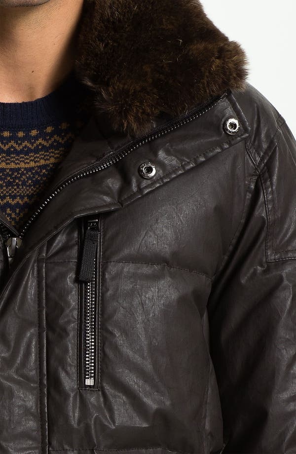 Alternate Image 3  - Sam 'Hunter' Quilted Down Jacket with Genuine Rabbit Trim