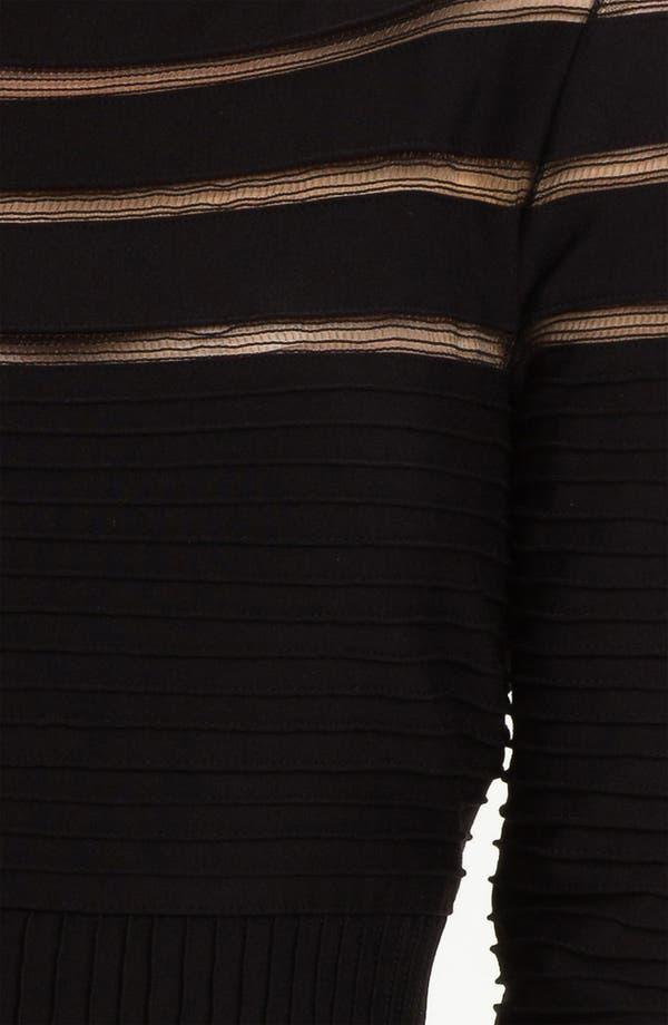 Alternate Image 3  - Tadashi Shoji Mesh Stripe Fit & Flare Dress (Regular & Petite)