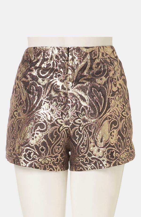 Alternate Image 2  - Topshop 'Dandy' Metallic Jacquard Shorts