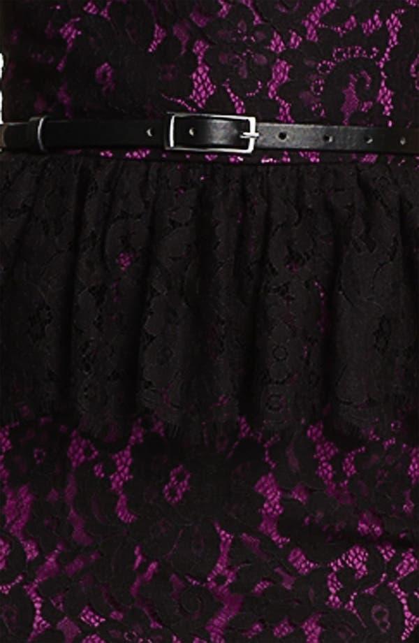 Alternate Image 3  - Robert Rodriguez Strapless Lace Peplum Dress