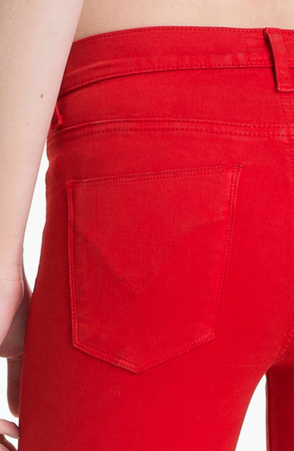 Alternate Image 3  - Hudson Jeans 'Nico' Skinny Overdyed Jeans (Red)