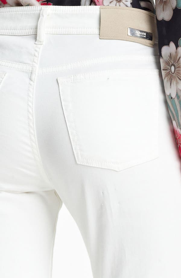Alternate Image 4  - Armani Collezioni High Waist Stretch Jeans