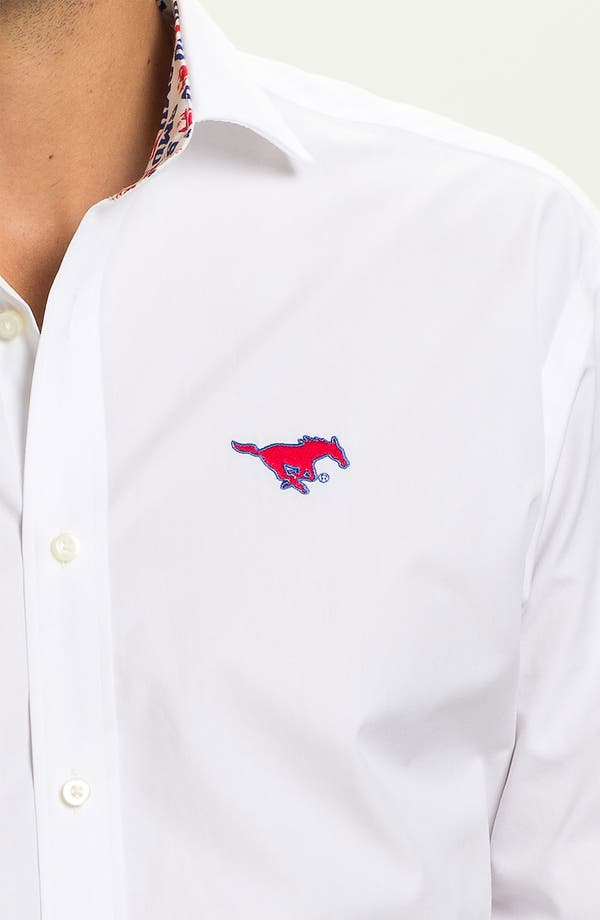 Alternate Image 3  - Thomas Dean 'Southern Methodist University' Sport Shirt