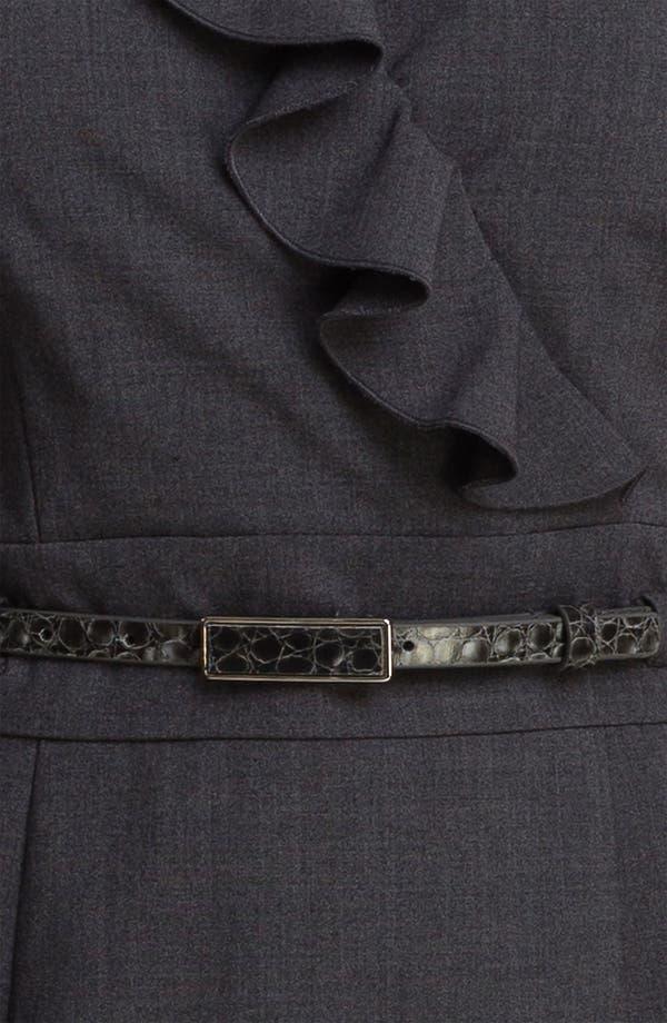 Alternate Image 3  - Tahari 'Shelly' Ruffle Front Belted Sheath Dress