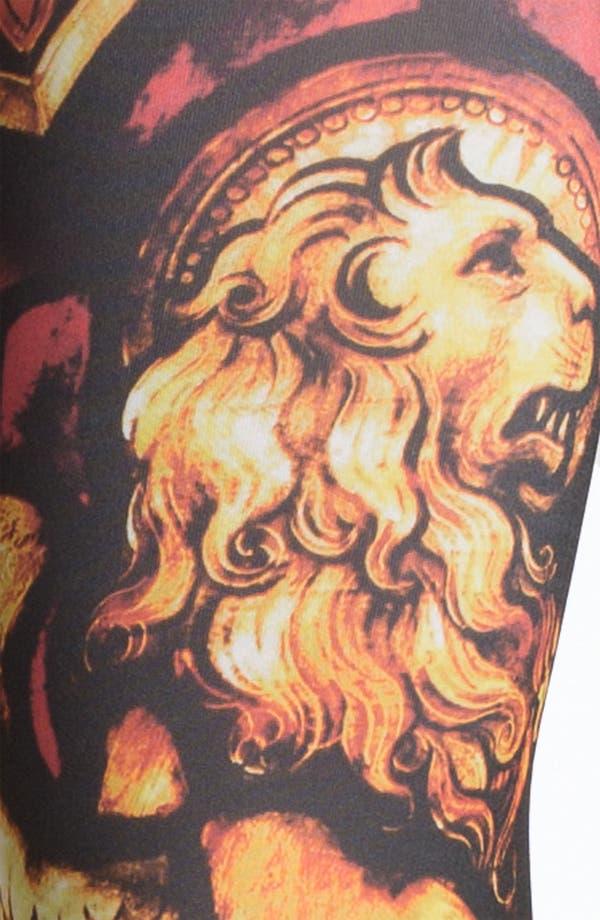 Alternate Image 2  - Hot Sox 'Lion' Print Leggings