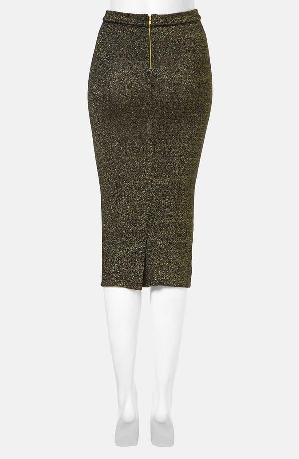 Alternate Image 2  - Topshop Metallic Midi Skirt